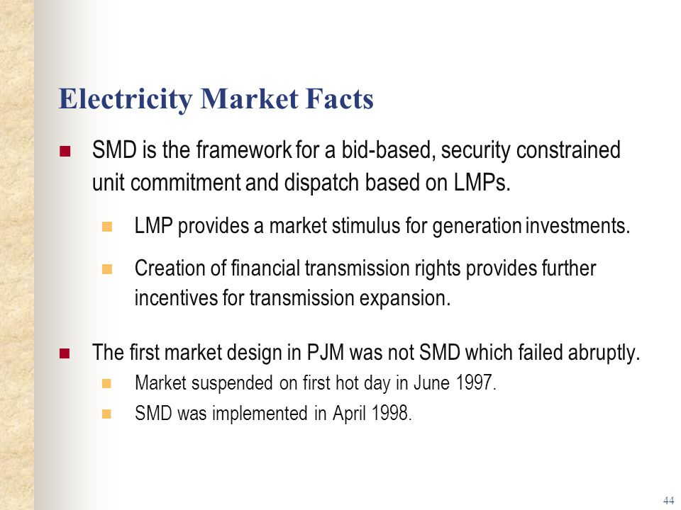 Electricity Market Facts