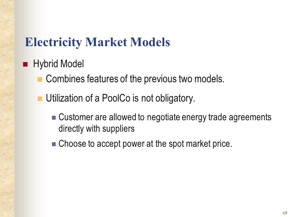Electricity Market Models
