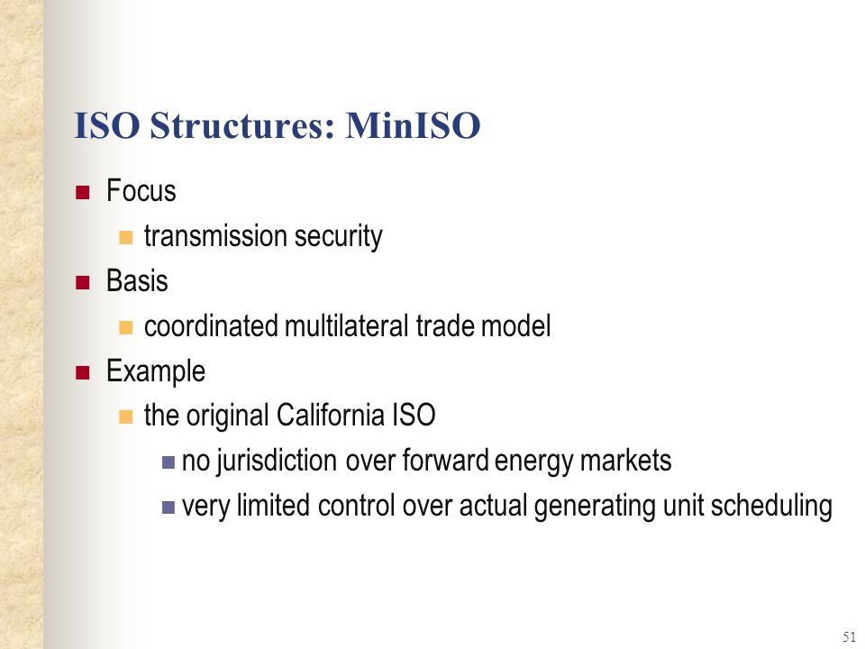 ISO Structures: MinISO