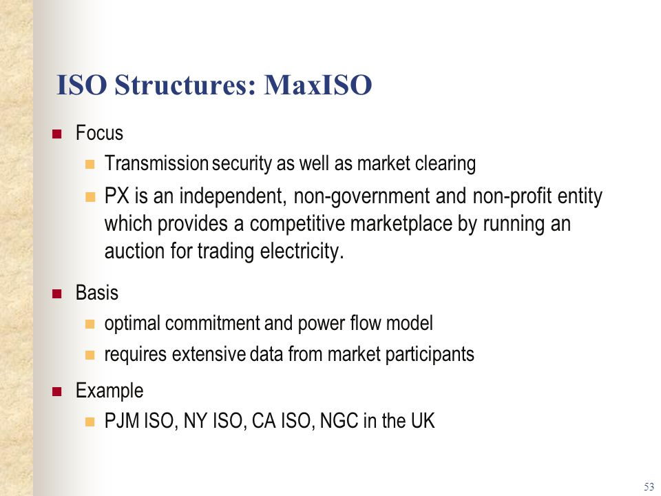 ISO Structures: MaxISO