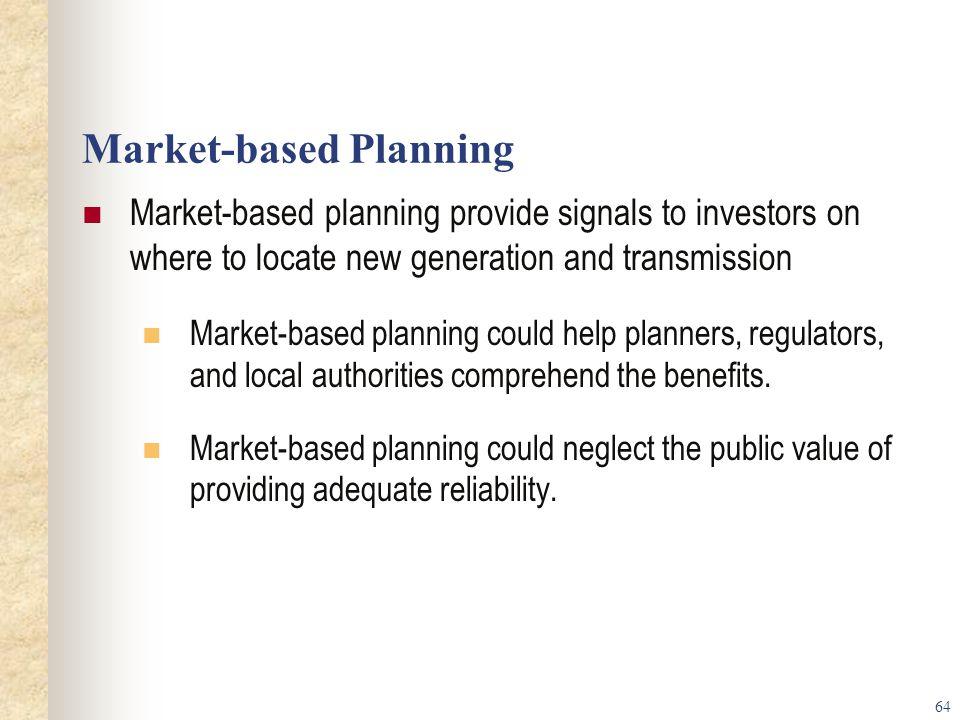 Market-based Planning
