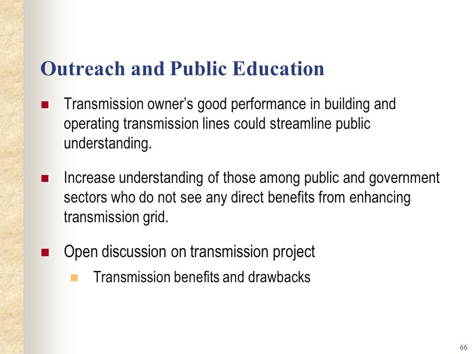 Outreach and Public Education
