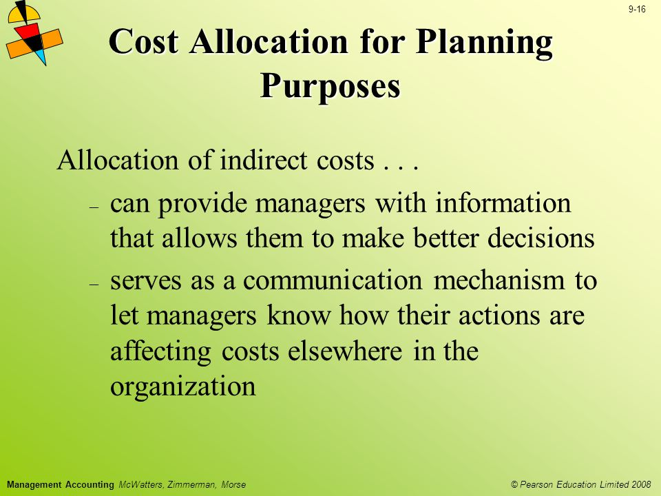 Cost Allocation for Planning Purposes
