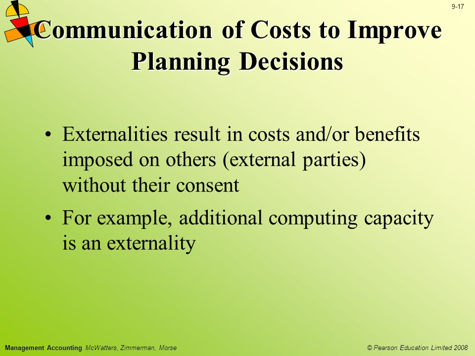 Communication of Costs to Improve Planning Decisions