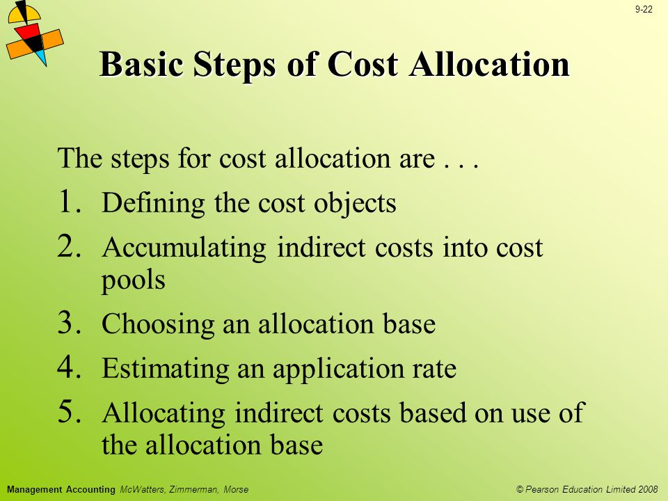 Basic Steps of Cost Allocation