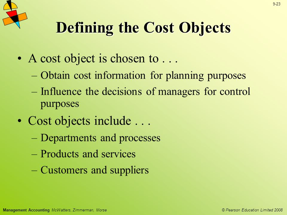 Defining the Cost Objects
