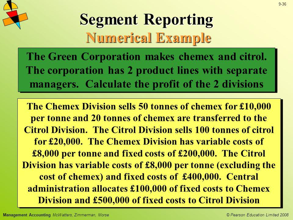 Segment Reporting Numerical Example