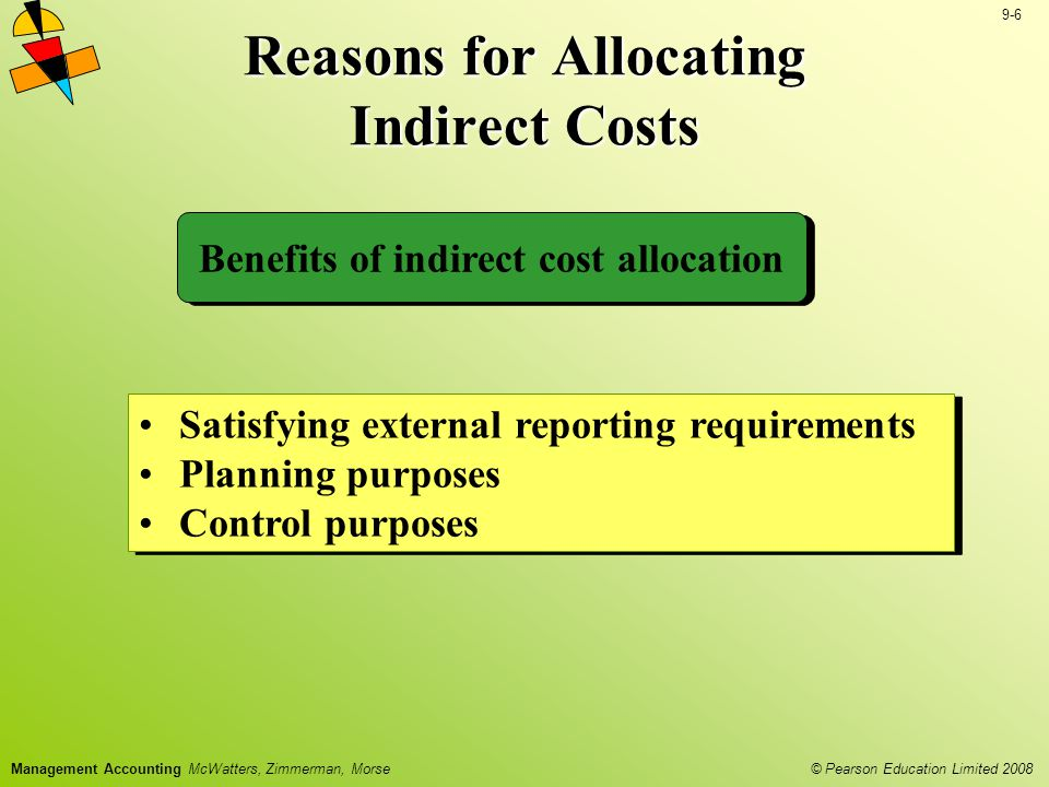 Reasons for Allocating Indirect Costs