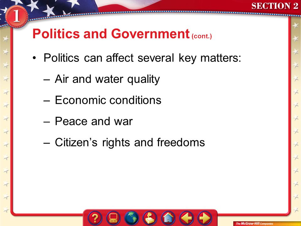 Politics and Government (cont.)
