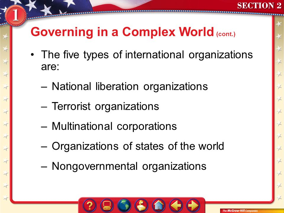 Governing in a Complex World (cont.)