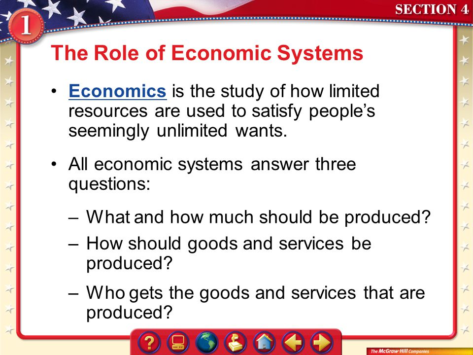 The Role of Economic Systems