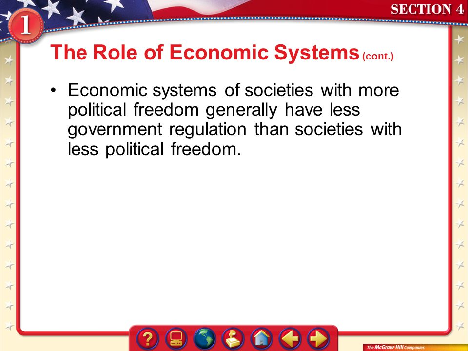 The Role of Economic Systems (cont.)