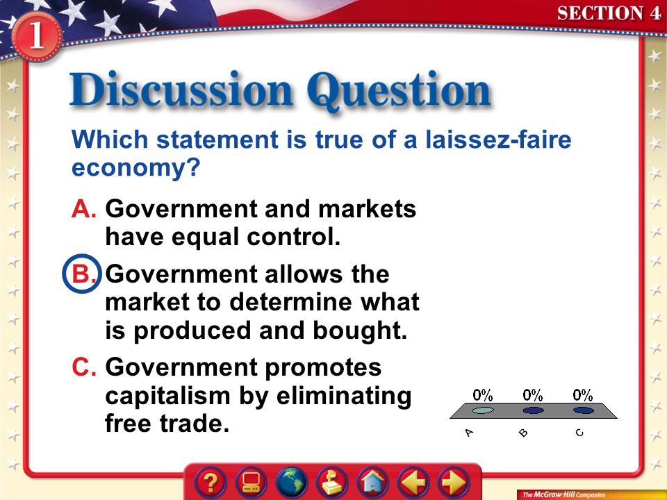 Which statement is true of a laissez-faire economy