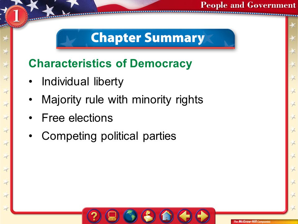 Characteristics of Democracy Individual liberty