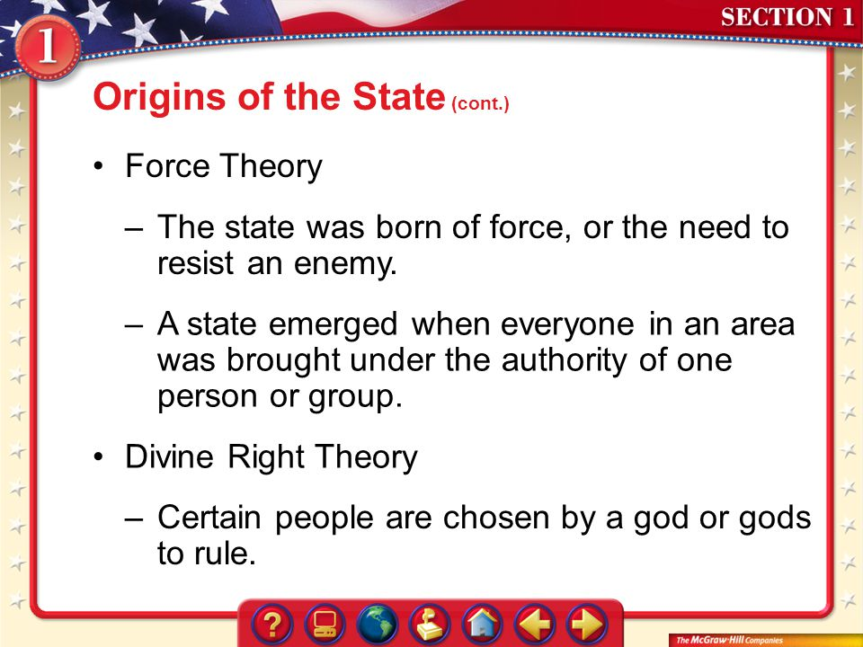 Origins of the State (cont.)