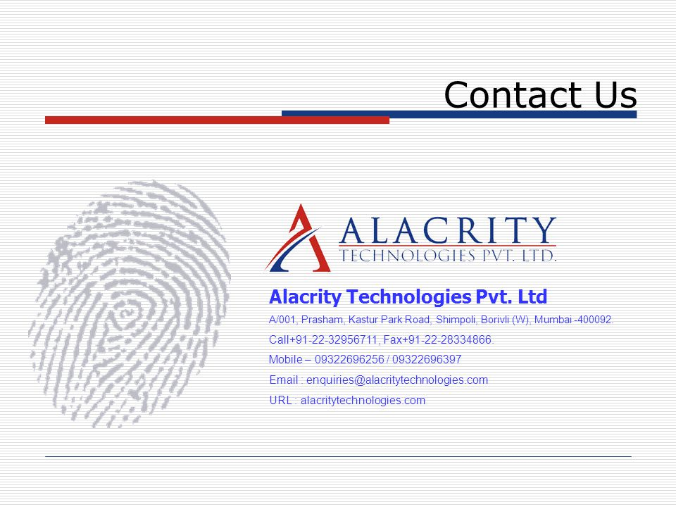 Contact Us Alacrity Technologies Pvt. Ltd