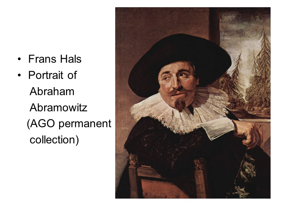 Frans Hals Portrait of Abraham Abramowitz (AGO permanent collection)