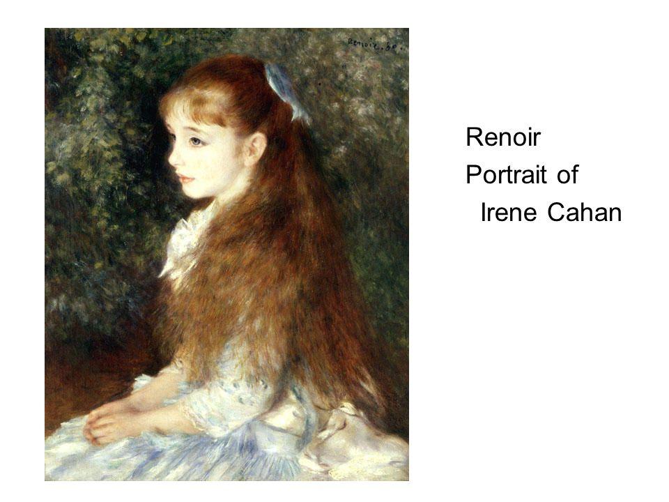 Renoir Portrait of Irene Cahan