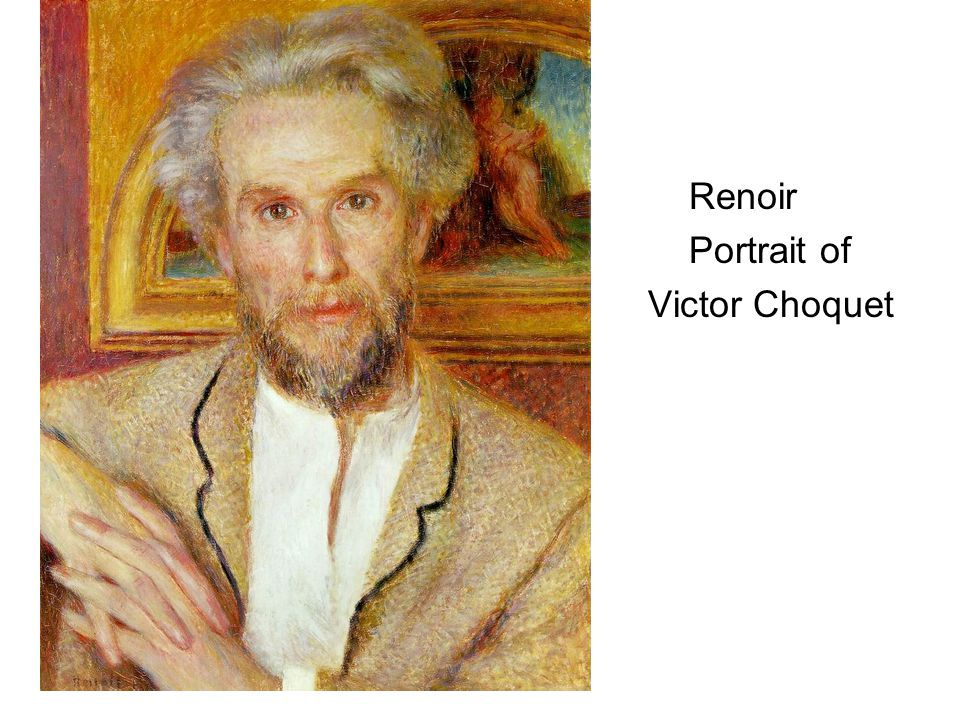 Renoir Portrait of Victor Choquet