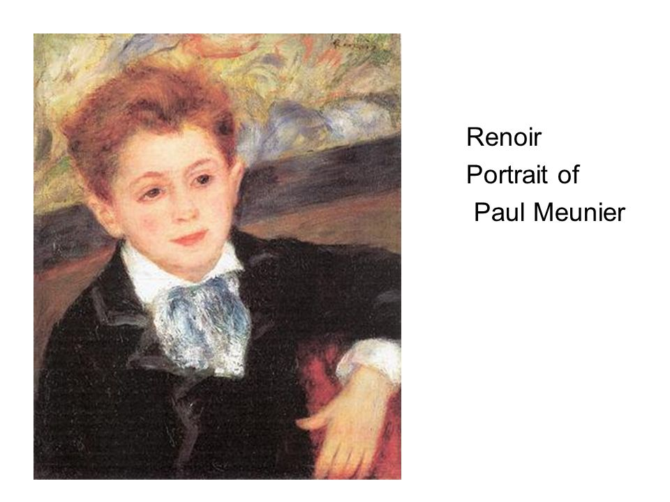 Renoir Portrait of Paul Meunier