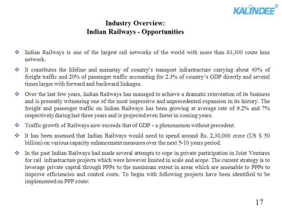 Industry Overview: Indian Railways - Opportunities