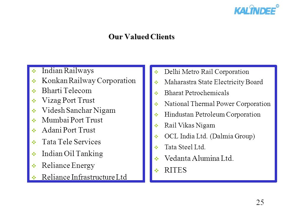 Konkan Railway Corporation Bharti Telecom Vizag Port Trust