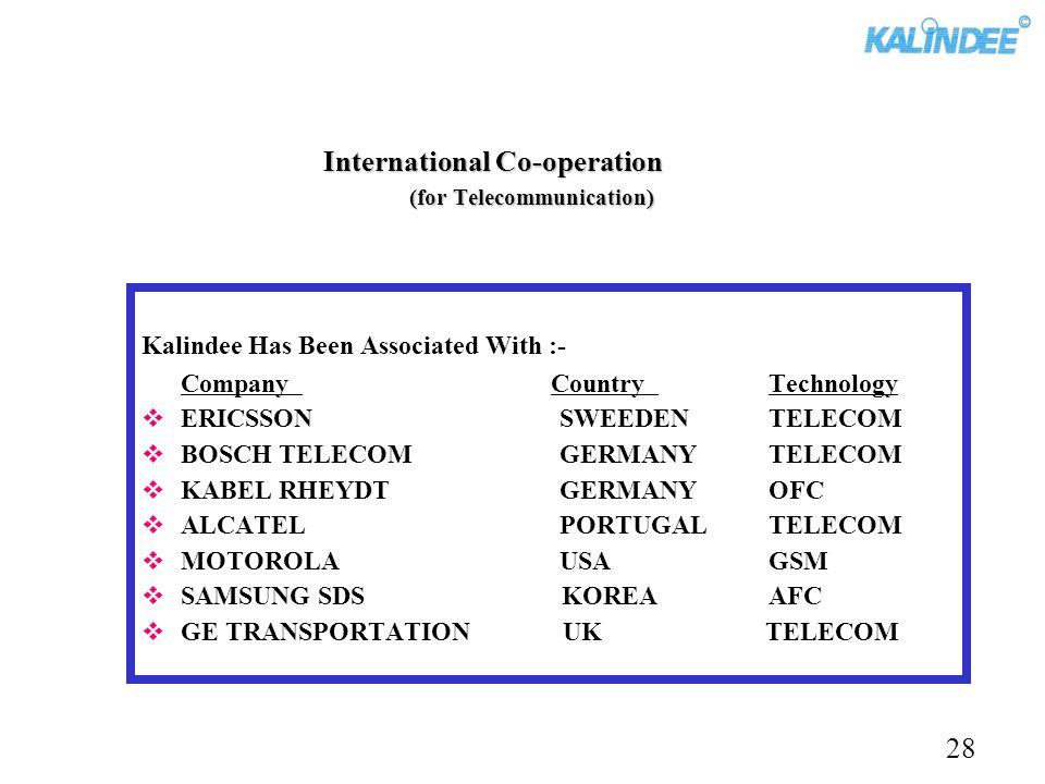 International Co-operation (for Telecommunication)