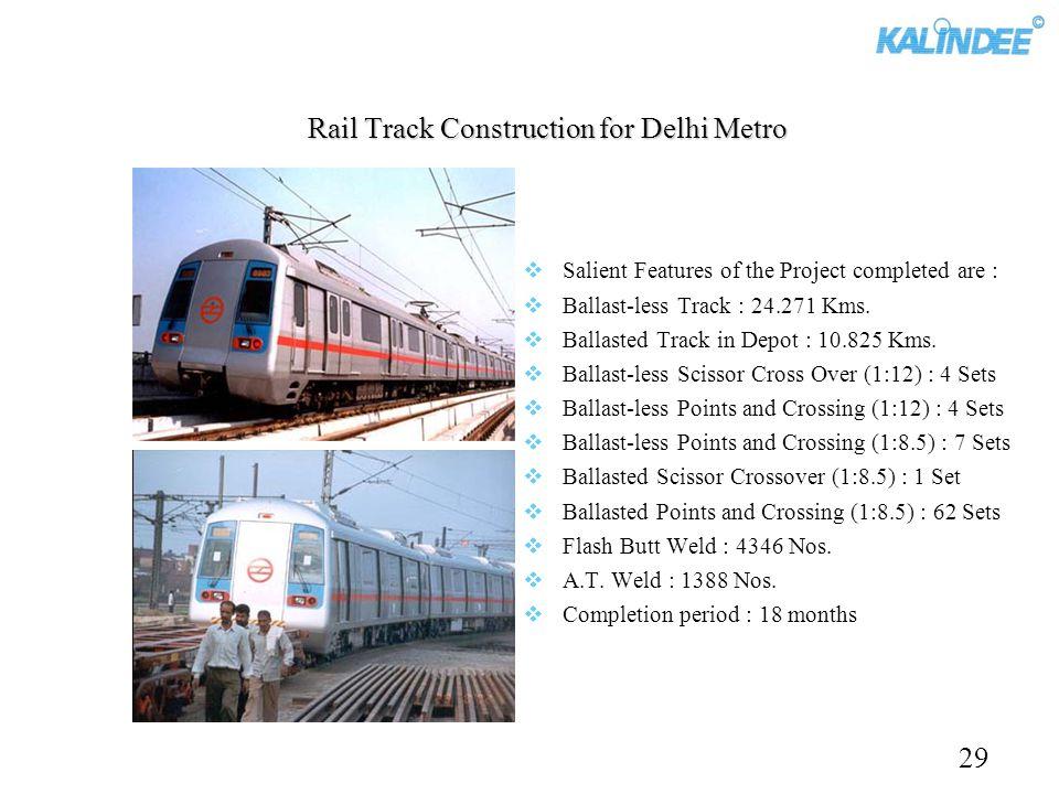 Rail Track Construction for Delhi Metro