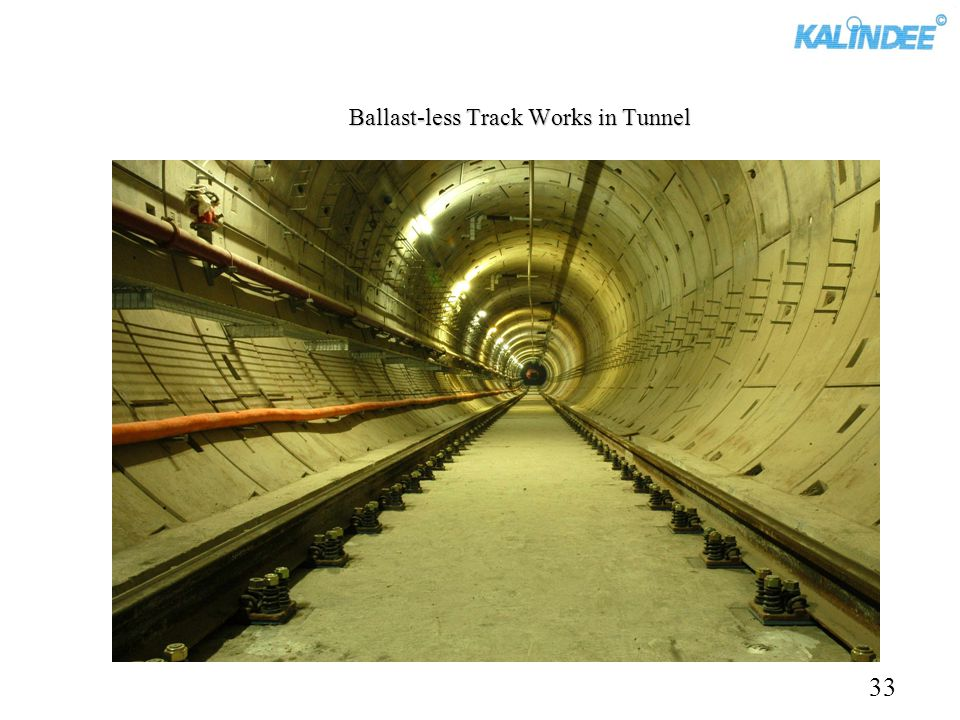Ballast-less Track Works in Tunnel