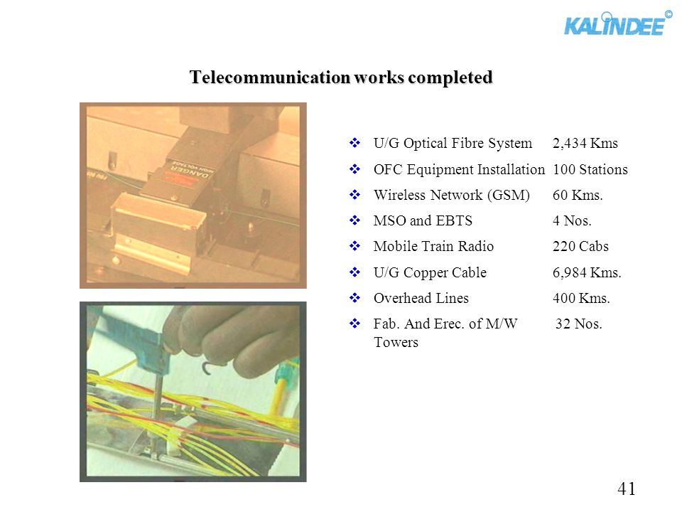 Telecommunication works completed