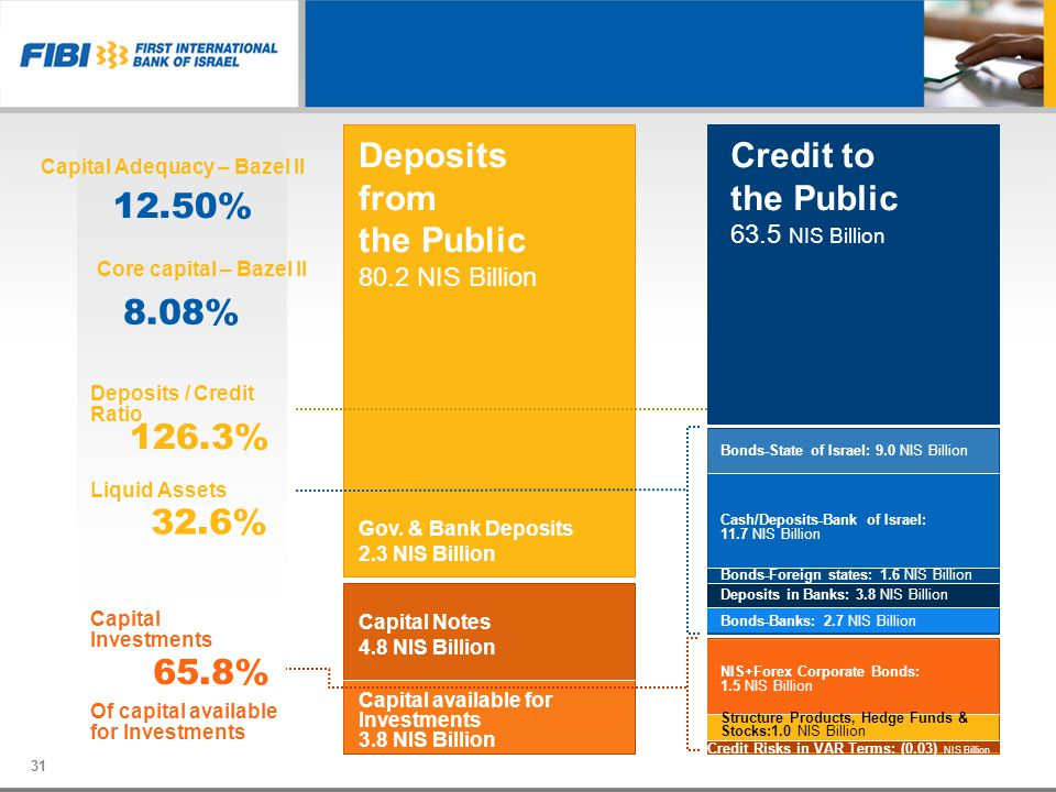 Deposits from the Public 80.2 NIS Billion Credit to