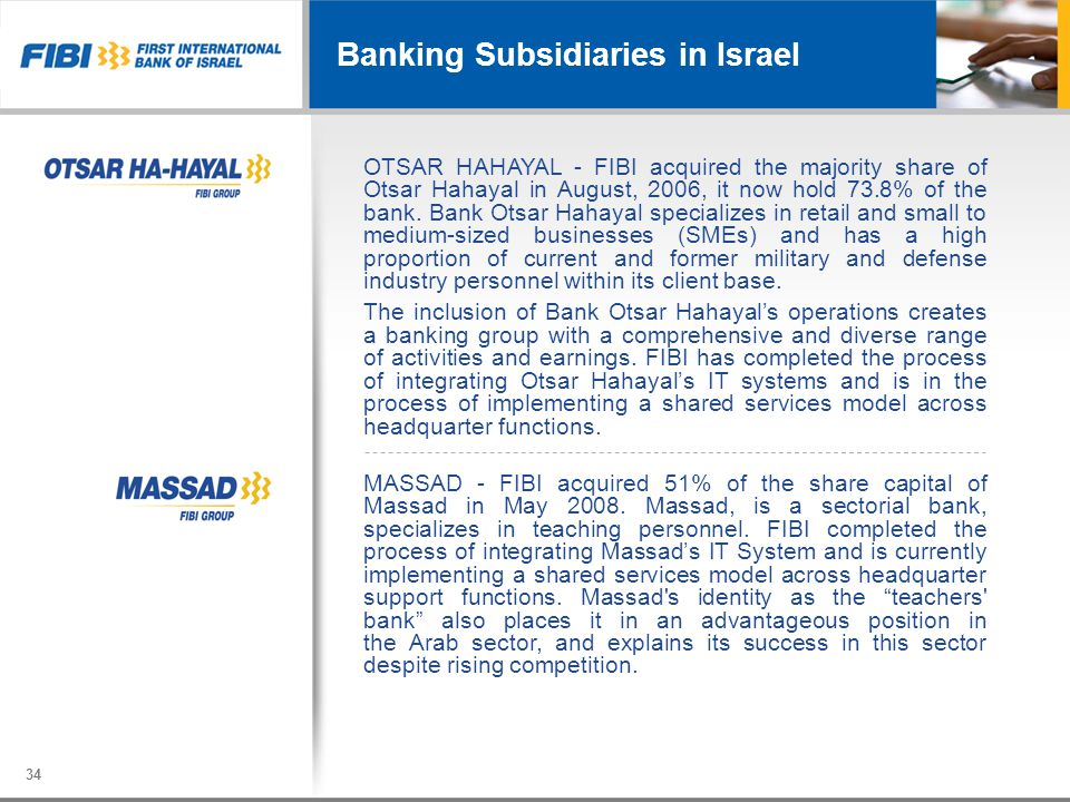 Banking Subsidiaries in Israel
