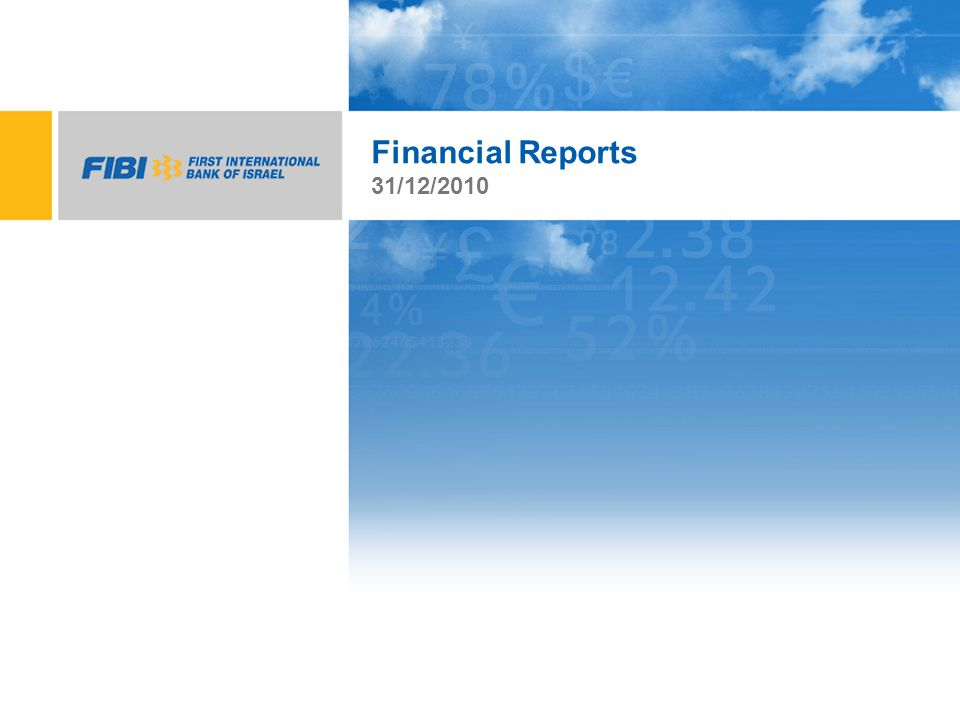 Financial Reports 31/12/2010