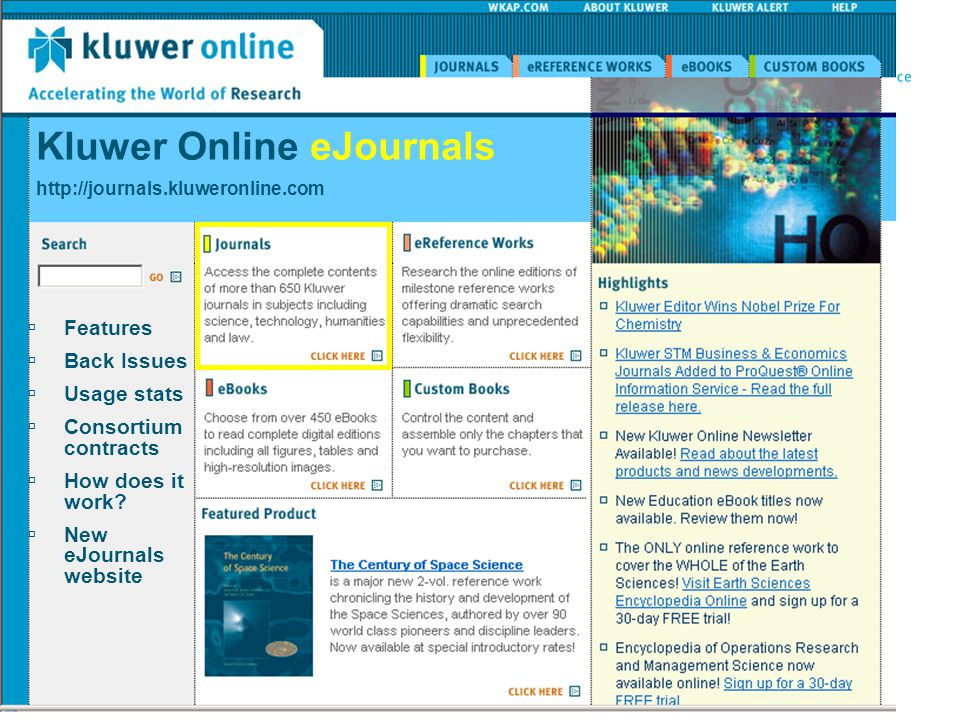 Kluwer Online eJournals