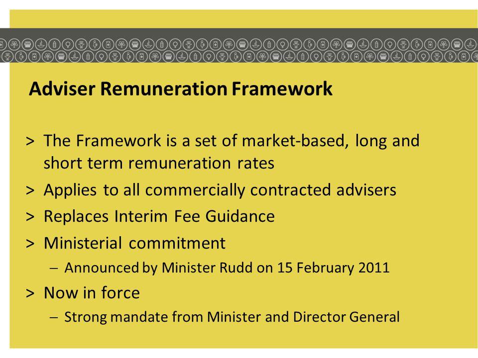 Adviser Remuneration Framework