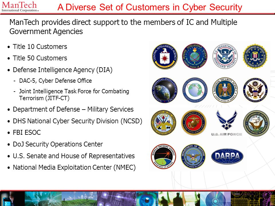 A Diverse Set of Customers in Cyber Security