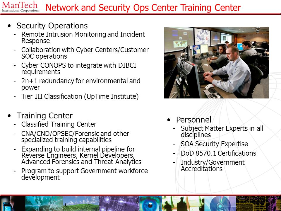 21 Network and Security Ops Center Training Center Security Operations