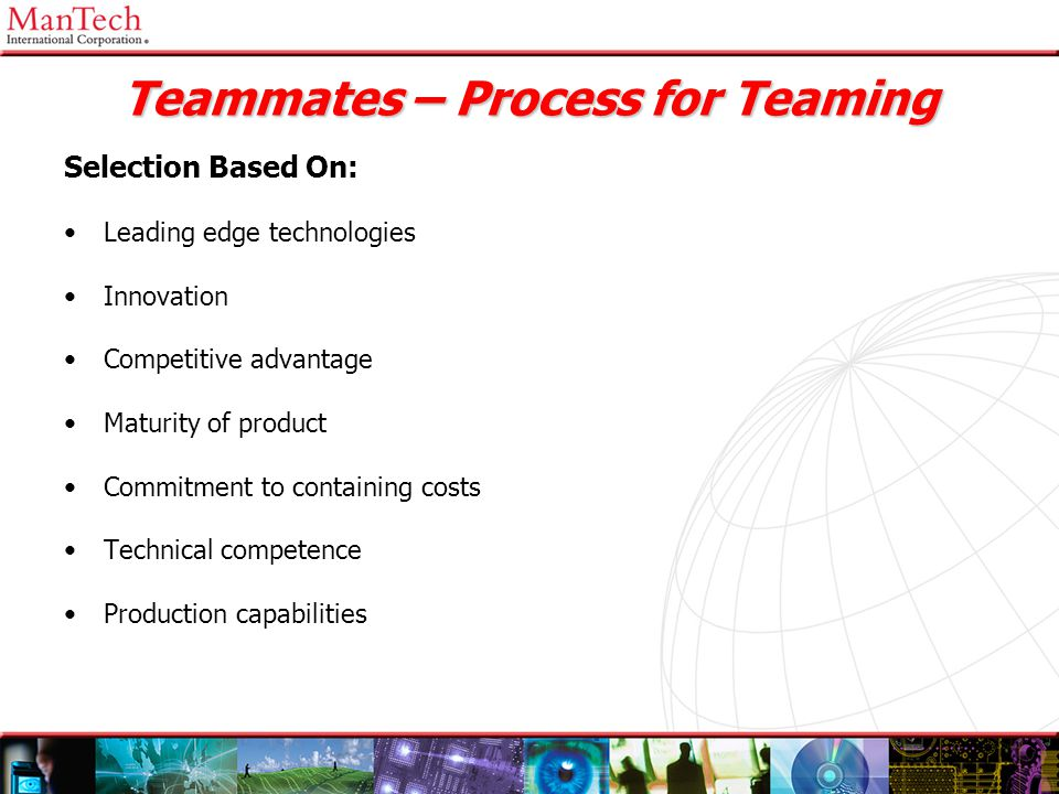 Teammates – Process for Teaming