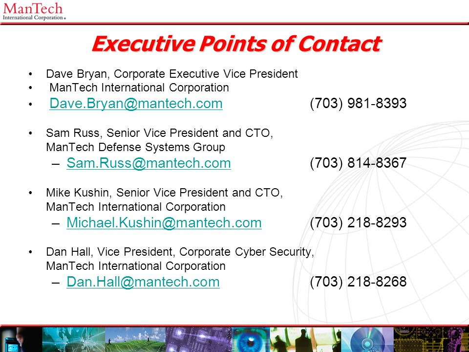 Executive Points of Contact