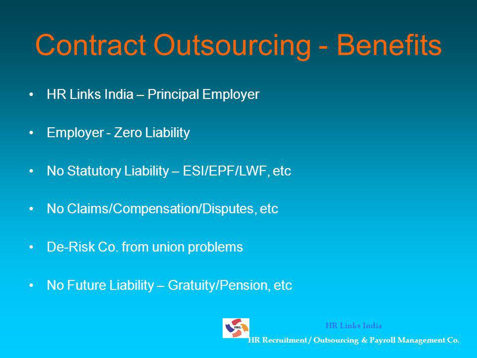 Contract Outsourcing - Benefits