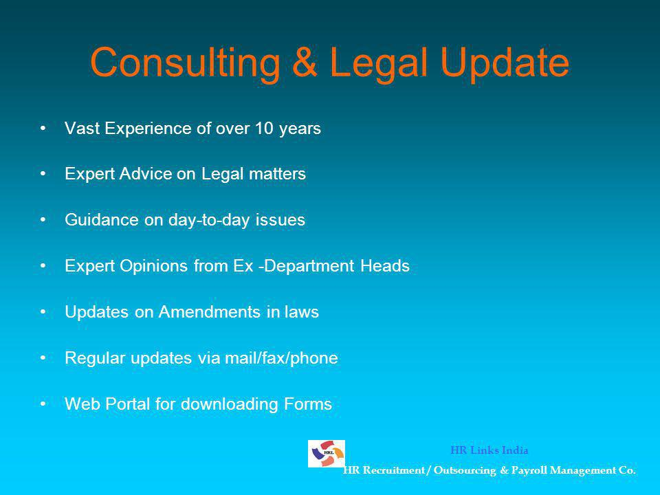Consulting & Legal Update