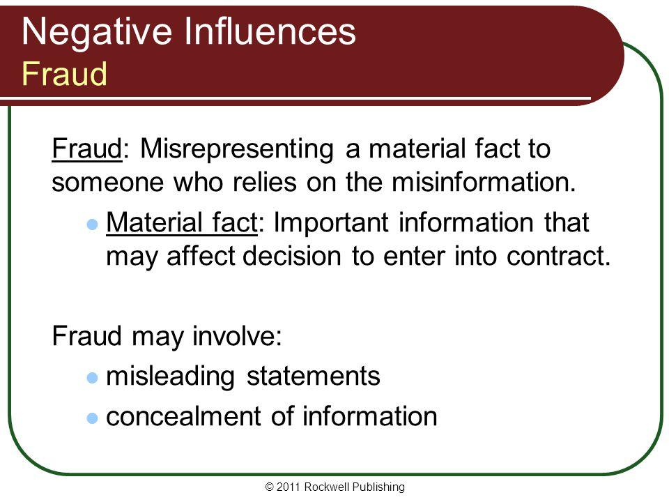 Negative Influences Fraud