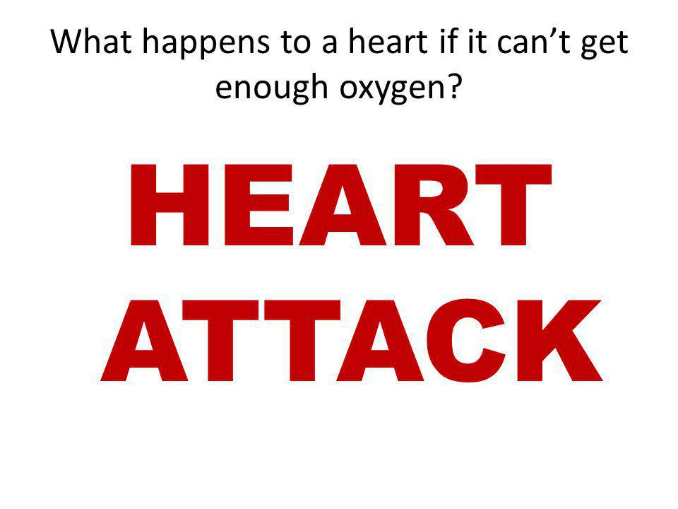 What happens to a heart if it can't get enough oxygen