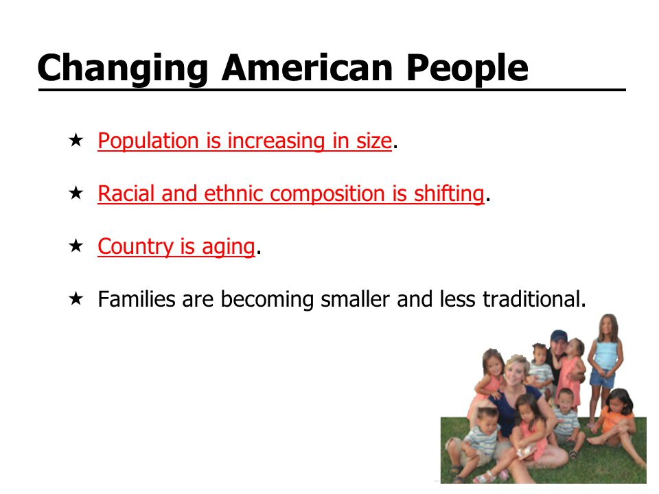 Changing American People