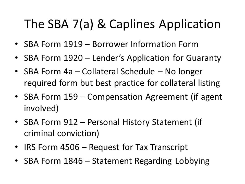 Sba Introduction To Sba Lending  Ppt Download