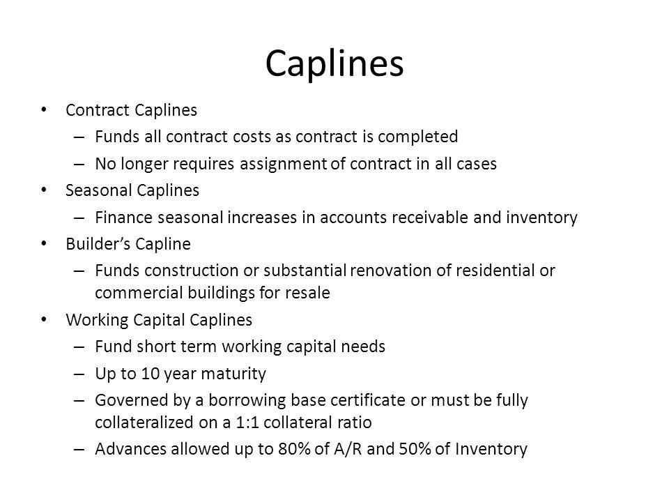 Caplines Contract Caplines