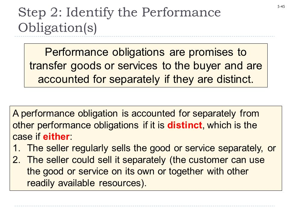 Step 2: Identify the Performance Obligation(s)