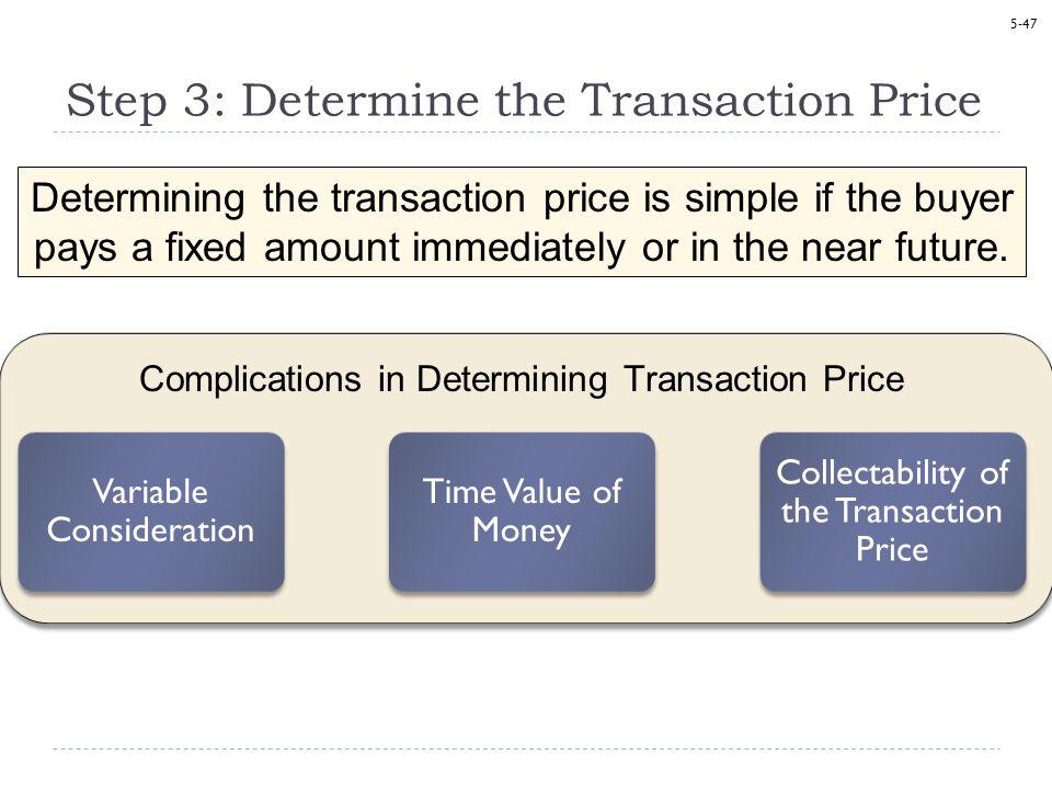 Step 3: Determine the Transaction Price
