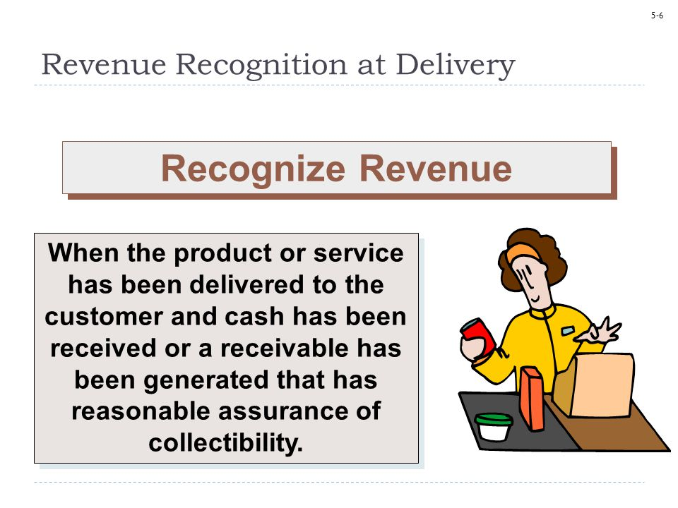 Revenue Recognition at Delivery