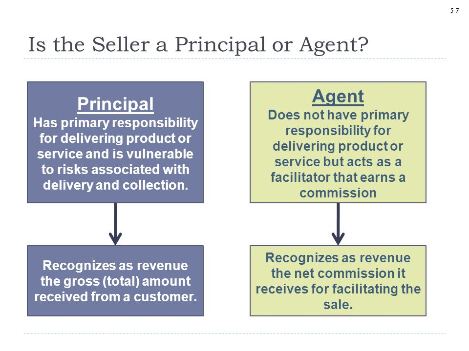 Is the Seller a Principal or Agent
